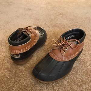 LL Bean rubber moc duck ankle boots 6